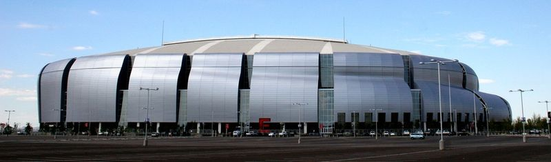 The University of Phoenix Stadium in Glendale, AZ